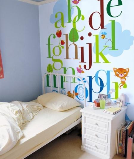 mural educativo abecedario