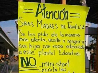 """Una escuela pide a las madres que acudan a recoger a sus hijos """"con ropa adecuada"""""""