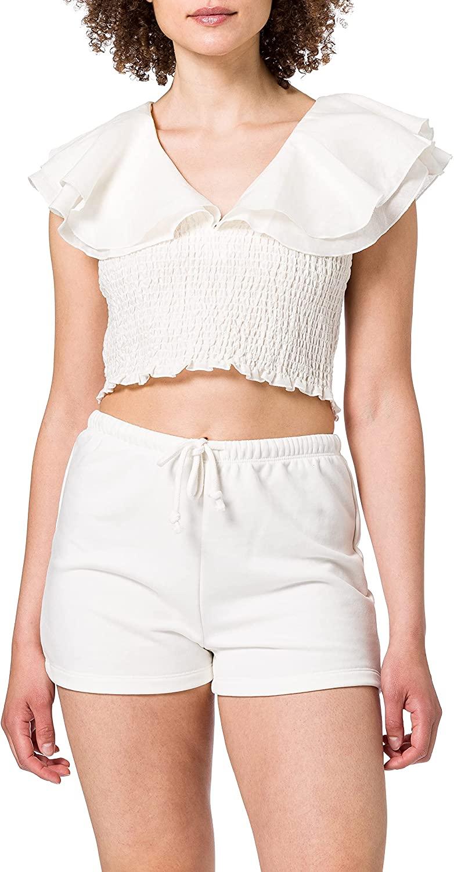 NA-KD Smocked Waist Top Blusas para Mujer