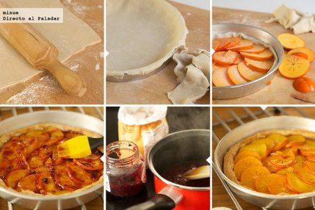 Tarta persimón elaboración