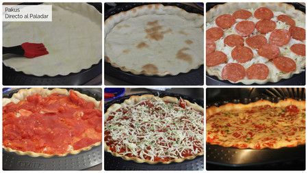 Pizza Estilo Chicago Pakus Directo Paladar Pasos