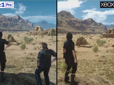 Final Fantasy XV: así mejora su aspecto en Xbox One X frente a Xbox One y PS4 Pro