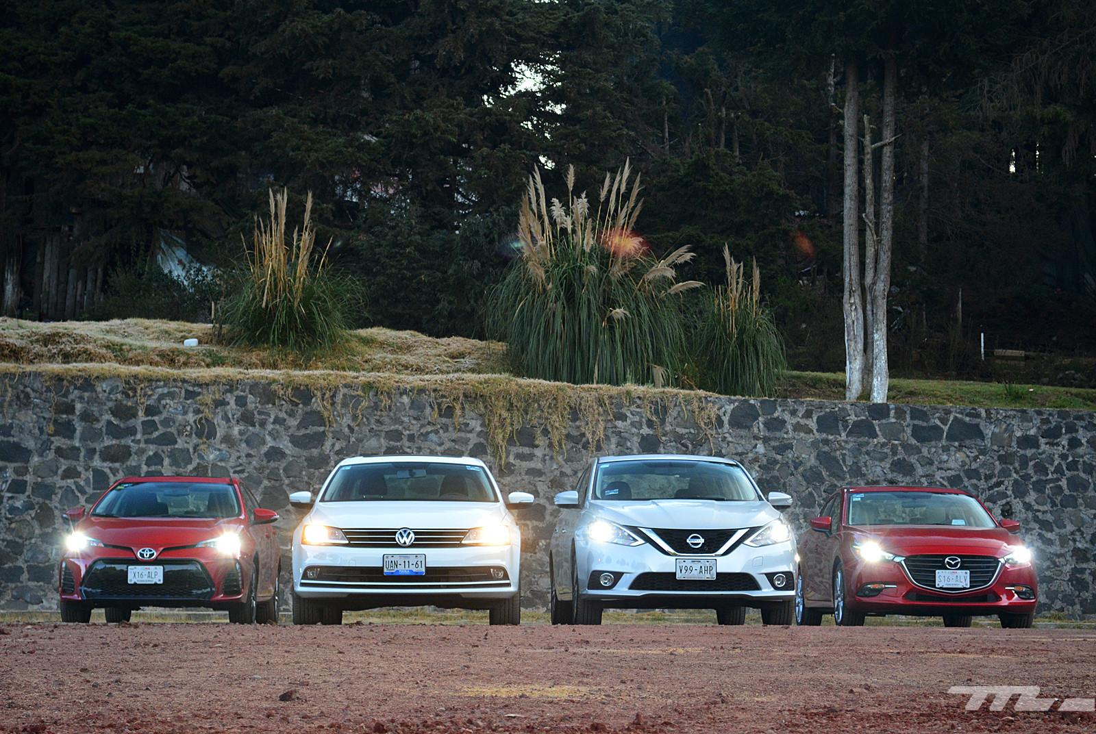 Foto de Comparativa: Mazda3 vs. Nissan Sentra vs. Toyota Corolla vs. Volkswagen Jetta (3/60)