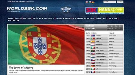 Un buen lavado de cara de la página oficial de Superbikes