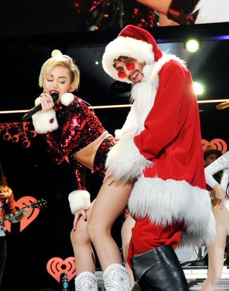 Miley Cyrus Papa noel