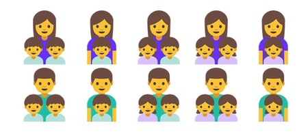 Single Parent Families Emojipedia Android 7 1