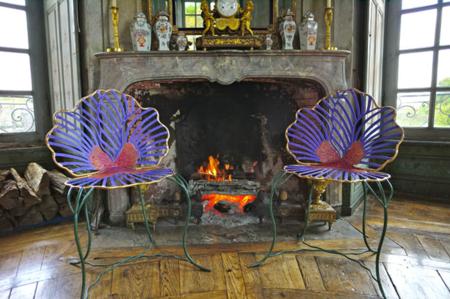Las mariposas de Joy de Rohan Chabot invaden el Château d'Haroué