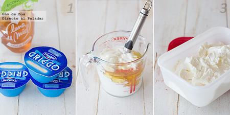 Helado de yogur o yogur helado. Receta paso a paso