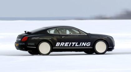 El récord de velocidad sobre hielo del Bentley Continental GT en vídeo
