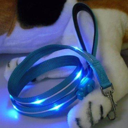 Perros-luciérnaga gracias a la correa con luces