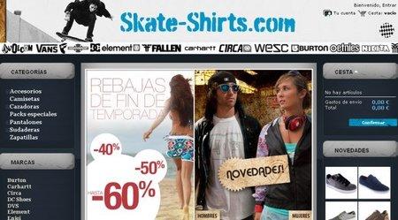 Skate-Shirts surfea con descuentos hasta final de año