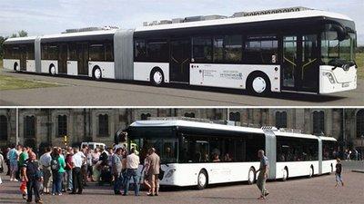 El autobus más largo del mundo con más 200 asientos