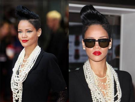 Rihanna sigue sorprendiendo con su peinado, ahora con un tupé
