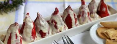 Receta de pimientos rellenos de crema suave de chorizo