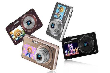 Cámara de fotos Samsung con doble pantalla para entretener a los niños