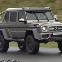 El Mercedes-Benz G 63 AMG 6x6 se atreve con todo, hasta con circuitos