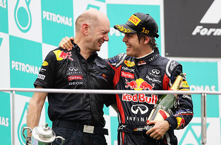 El futuro de Sebastian Vettel no está unido al de Adrian Newey