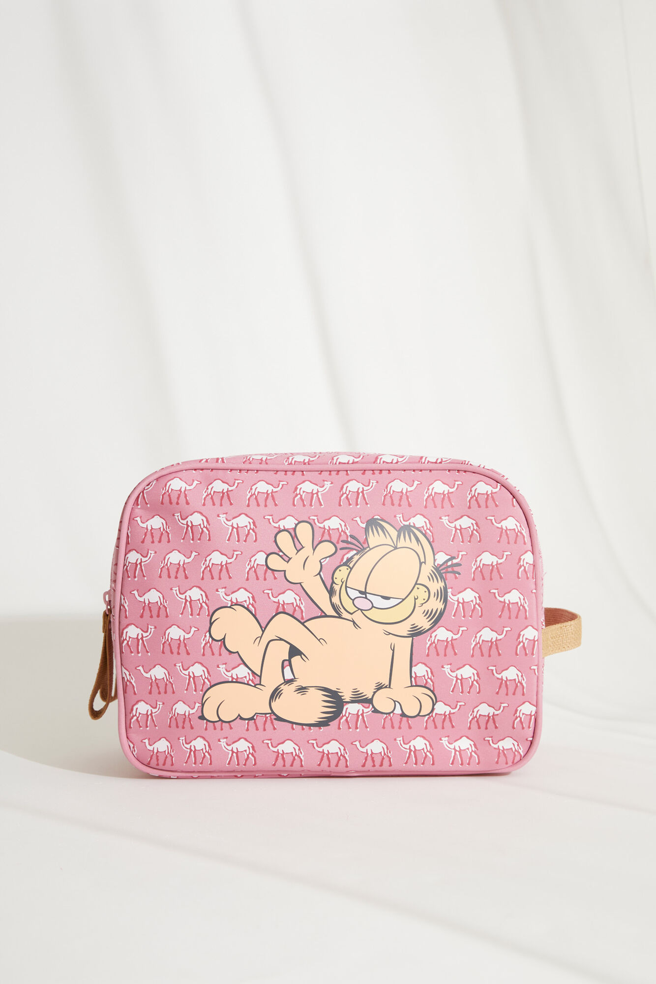 Neceser grande estuche Garfield camellos rosa