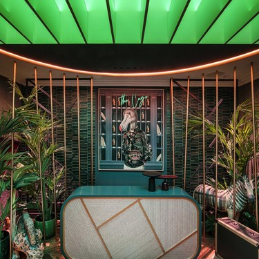 Pictoclub lleva el surrealismo inspirado en Grand Hotel, en forma de ilusión óptica, a Casa Decor