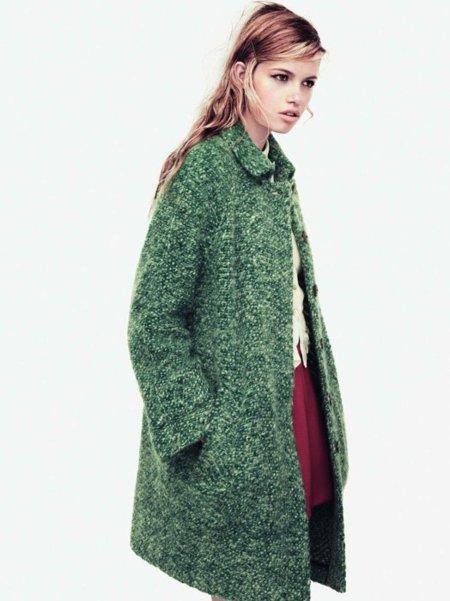 Abrigo verde Zara Trafaluc