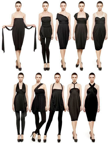 The Infinity Dress by Donna Karan, un vestido, diez posibilidades