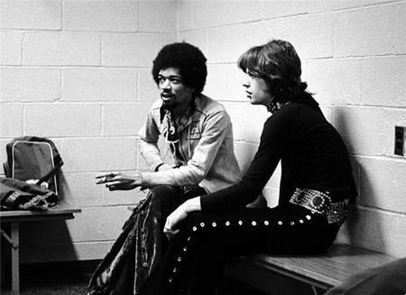 Jimi Hendrix And Mick Jagger, New York, 1969