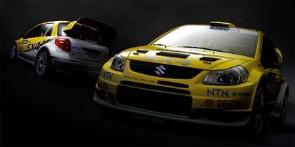 La nueva decoración para el Suzuki SX4 WRC de 2008