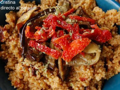 Receta de cuscús con berenjenas y tomates secos
