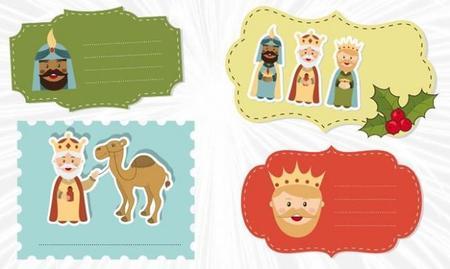 Etiquetas Para Regalos De Los Reyes Magos Xl 668x400x80xx