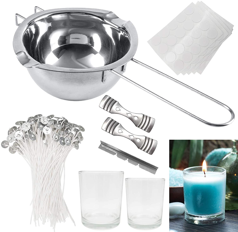 Kit de fabricación de velas, mechas de velas, herramientas de manualidades para hacer velas de Navidad (205 piezas)
