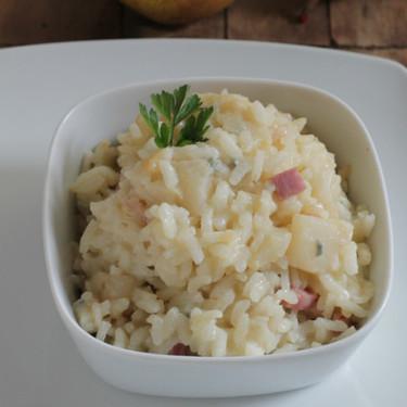 Risotto de pera y jamón al gorgonzola, receta para triunfar sí o sí