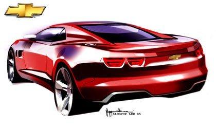 Los bocetos del Chevrolet Camaro