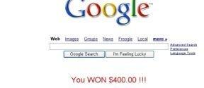 Phishing con la página principal de Google