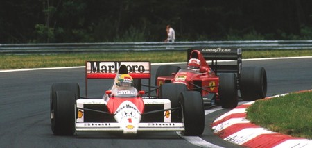Senna Mansell Hungria F1 1989