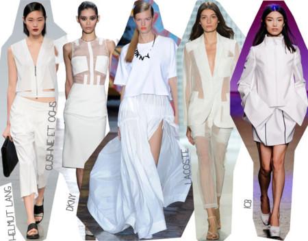 Semana de la Moda de Nueva York Primavera Verano 2014 Tendencias blanco total look