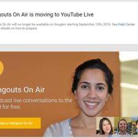 Google se despide de Hangouts On Air, la función estará disponible hasta septiembre