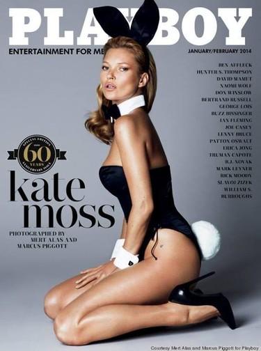 Por fin podemos contemplar a Kate Moss convertida en conejita de Playboy