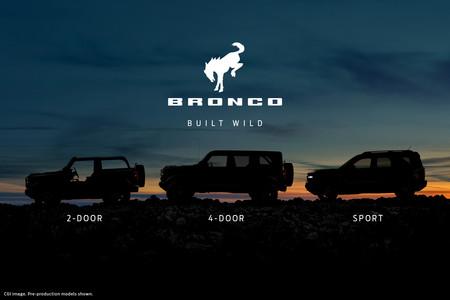 La nueva Ford Bronco estará disponible en tres configuraciones: 2 puertas, 4 puertas y Sport