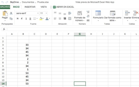 microsoft skydrive excel web office