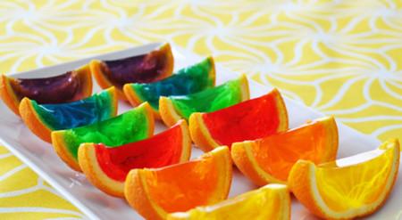 Gelatinas en cáscaras de naranja