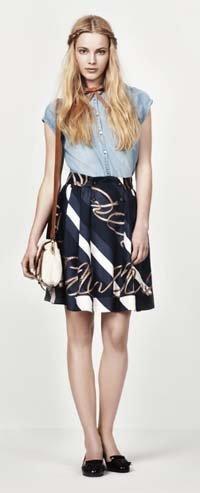 Falda de Zara estampado scarf