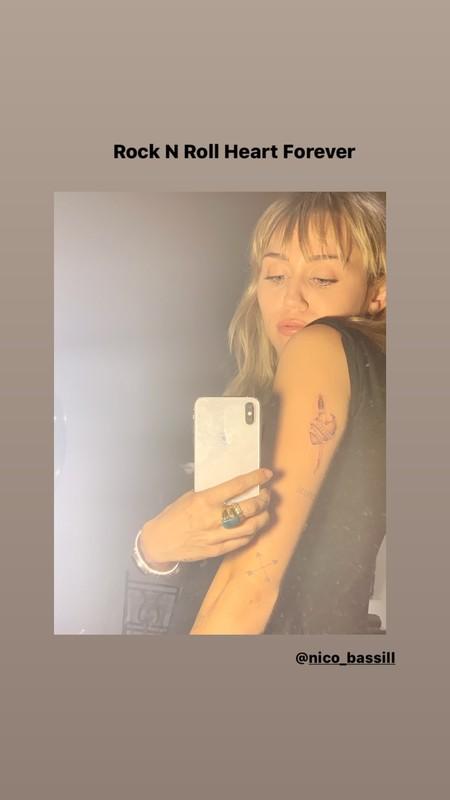 Miley Cyrus Tatuaje 2