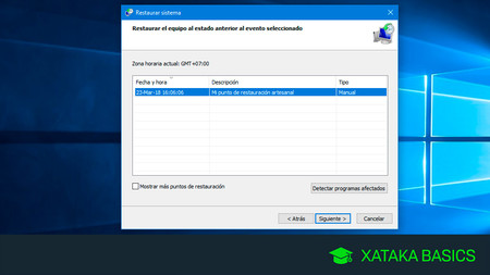 Cómo crear un punto de restauración en Windows