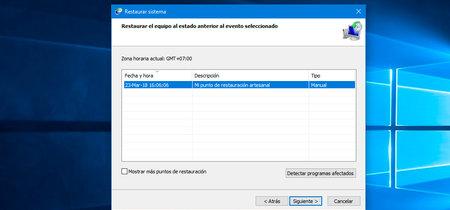 Cómo crear un punto de restauración en Windows