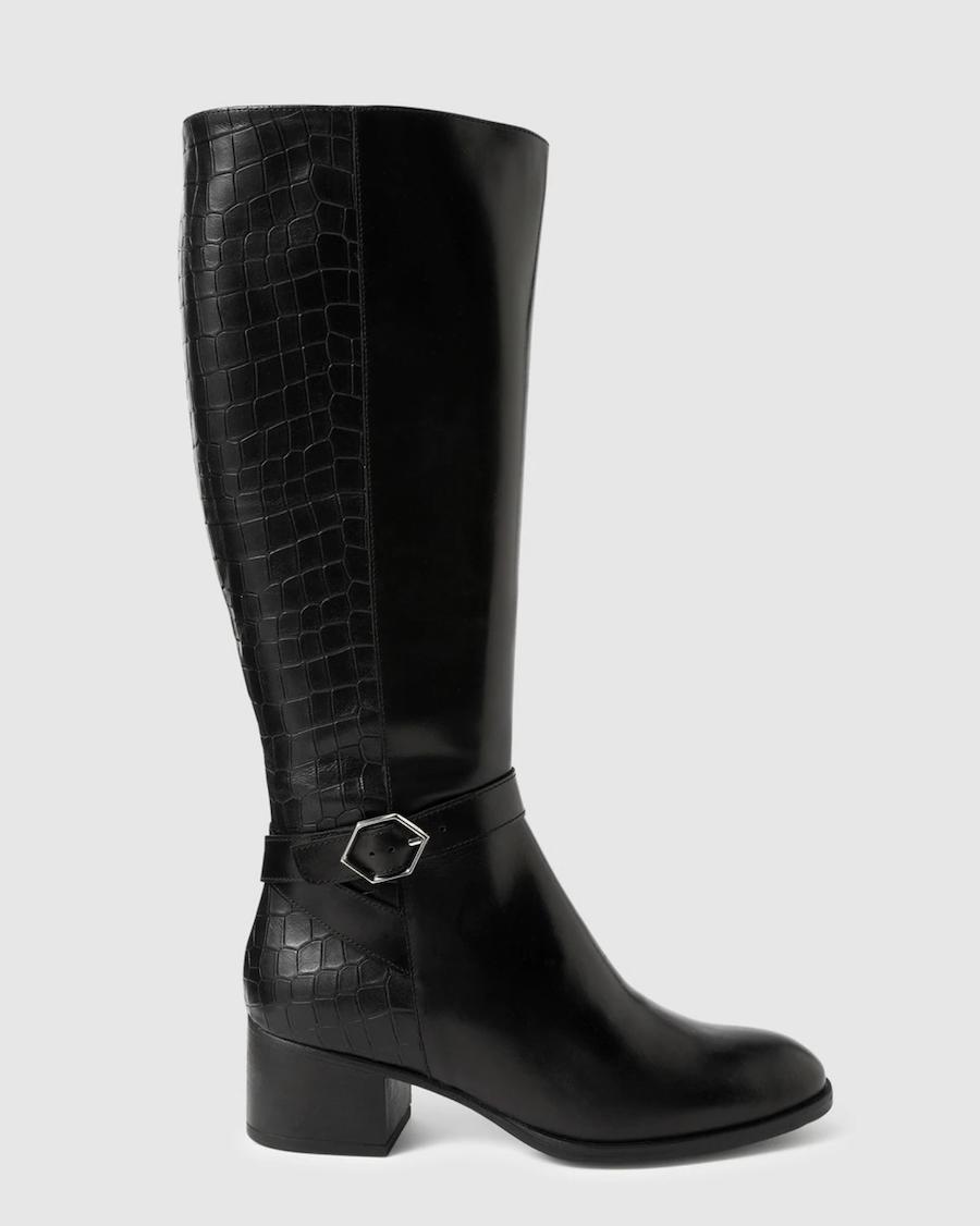 Botas de mujer Wonders en color negro con hebilla