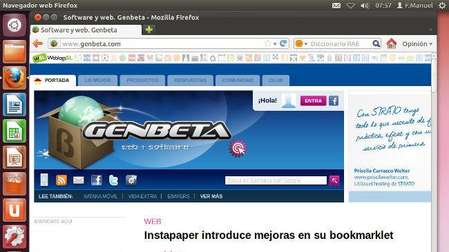 Ubuntu 12.04 Beta 1 con Firefox