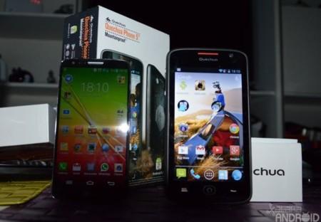 LG G2 (5,2 pulgadas) vs Quechua Phone (5 pulgadas)