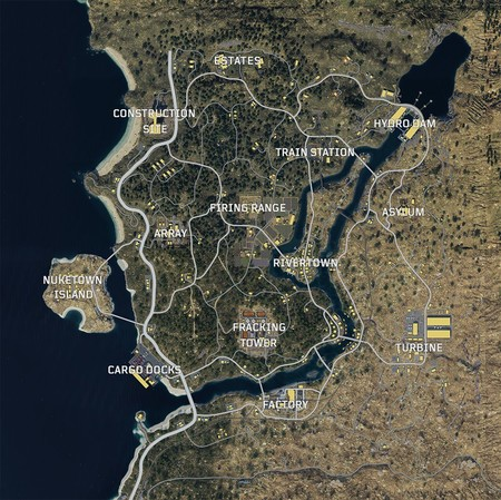Call Of Duty Black Ops 4 Blackout Mapa