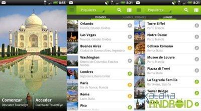 TouristEye para Android se renueva por completo