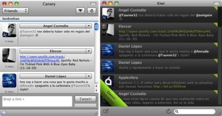 Kiwi y Canary, dos nuevas opciones para usar nuestro Twitter desde Mac OS X